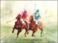 Polo Print - Polo in Action by Philip Martin